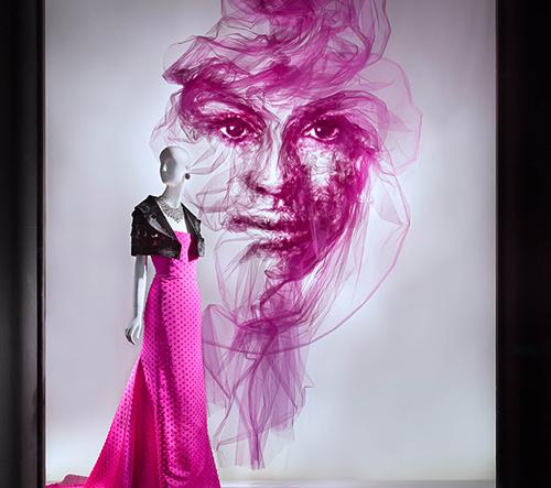 Benjamin Shine tvoří éterické portréty z tylu