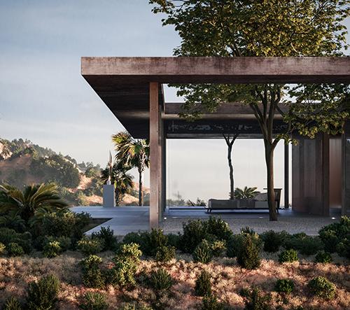 Marc Thorpe navrhl pro sběratele umění moderní vilu v Hollywoodu