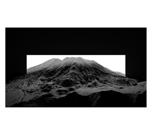 Thomas Paturet vytvořil dechberoucí tajemné koláže černobílých snímků horských masivů