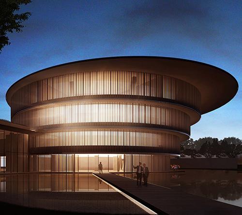 Tadao Ando představil návrh He Art Muzea v Číně