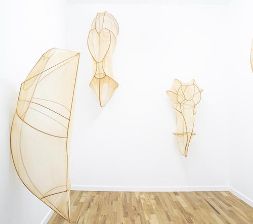 Rosemary Holliday Hall představila sérii skulptur představujících proměnu hmyzu v lidském měřítku