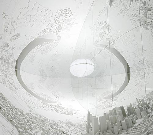 Es Devlin ve své dechberoucí instalaci odkazuje na minulost, přítomnost a budoucnost