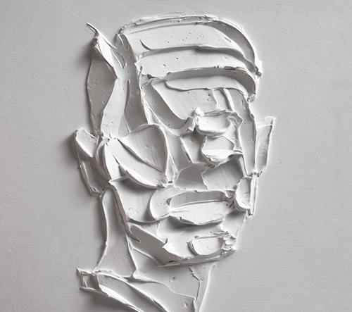 Salman Khoshroo vytváří emotivní modely tváří z rozmazaných barev