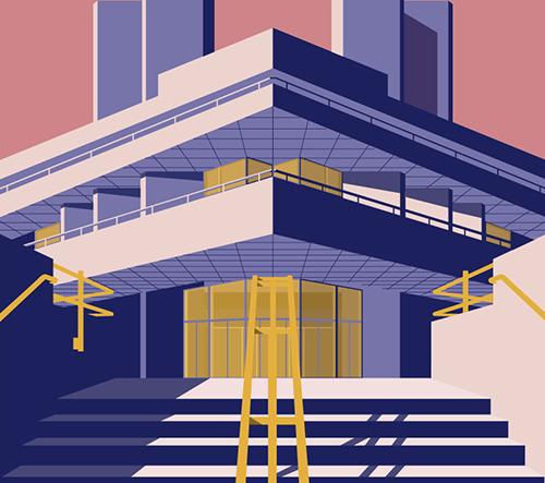 Šapělský grafický designer ilustruje slavné muzea a architektonické památky v Londýně