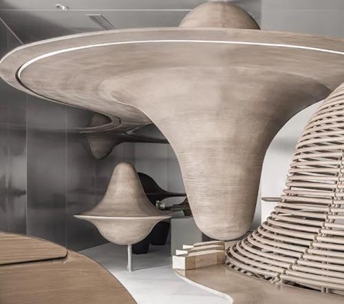 Čínské studio X+living navrhlo dřevěnou prodejnu s čajem inspirovanou klidným čínskými horami a oblaky