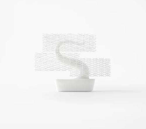 Nendo navrhli 3Dtištěnou bonsaj lehce tvarovatelnou nůžkami