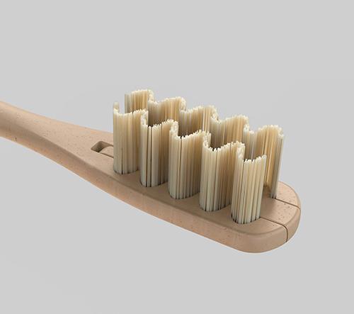 Everloop je ekologický kartáček na zuby s výměnnými štětinami z bambusu