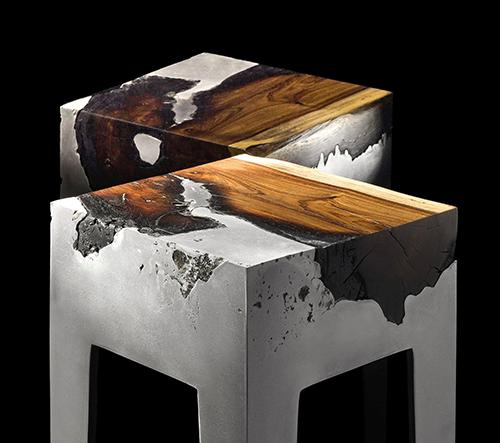 Hilla Shamia navrhuje nábytek inspirován syrovou krásou dřeva a hliníku