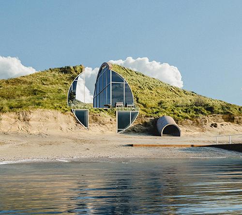 Dune House má být ukrytý v písečné duně na mysu Cape Cod