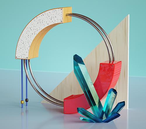 Studio G R A Z A vytvořilo sureální 3D typografii