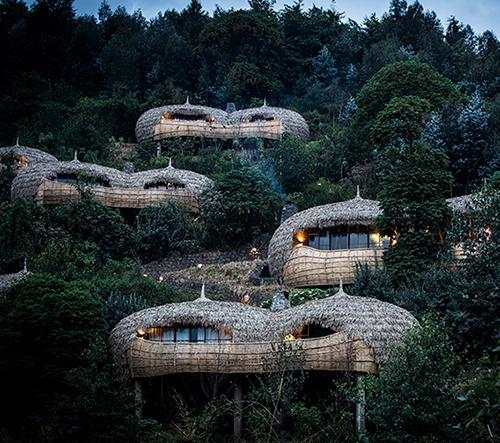 Luxusní resort ve Rwande se skládá ze šesti vil